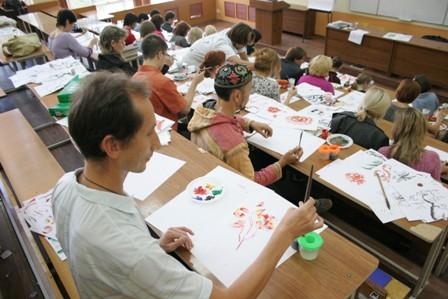 Лялин Виталий на семинаре живописи У-Син