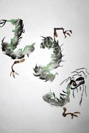 Китайский дракон. Живопись У-Син