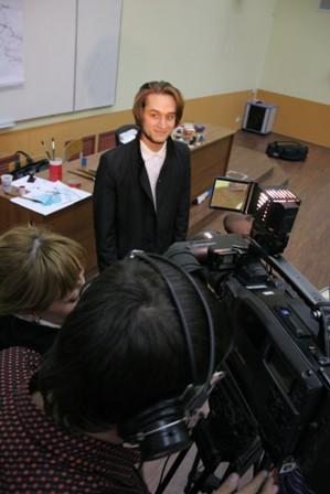 Андрей Щербаков дает интервью