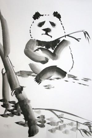 Живопись У-Син панда